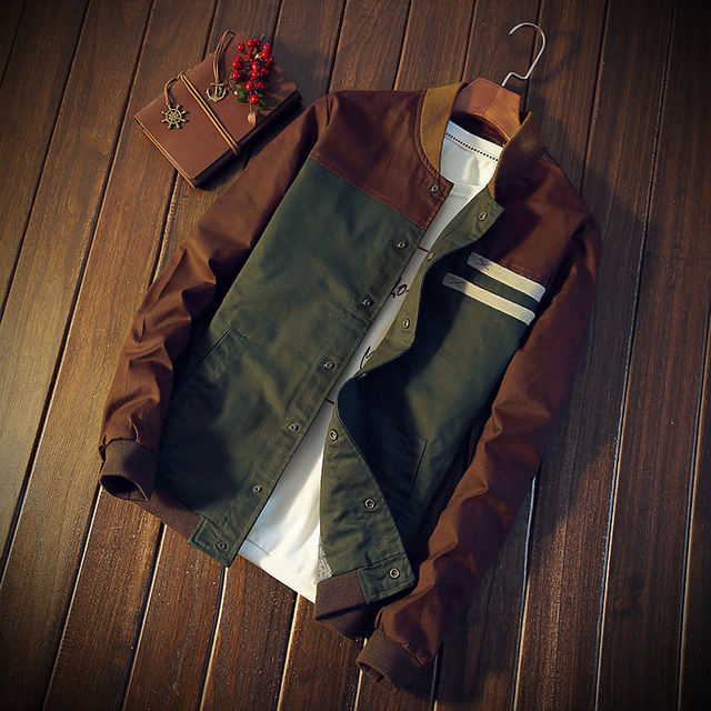 2018 Brand Green Casual Teens Jacket Green Jackets Men Turn-down Collar Long Sleeve Tactical Bomber Military Mens Thin Coat 4XL