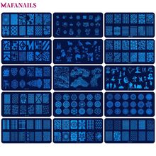 1Pc JR Nail Stamping Plates (6*12cm) Stainless Steel Image Konad Art Manicure Template Stamp 30 Styles