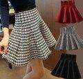 ANASUNMOON 2016 Otoño Invierno Estilo Europeo y Americano de Las Mujeres Plisado Busto Faldas Señora Short Skirt de Pettiskirt Del A-line de La Falda