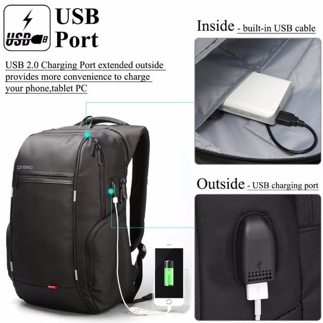 2018 Dtbg Backpack Mouchilas Laptop Backpacks Smart Business Travel School Rucksack Anti Theft Computer Usb