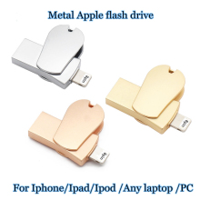 I-FLASH DRIVE OTG function Pen Drive 2 in 1 pendrive for apple iphone 6s 7plus Memory stisk metal USB flash drive 2.0