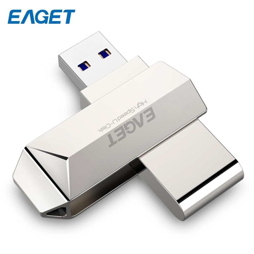 EAGET F70 USB 3.0 Flash Drive Pearl Nickel Zinc Alloy High Speed 16GB 32GB 64GB USB Flash Disk Memory Stick Memoria Usb 3.0