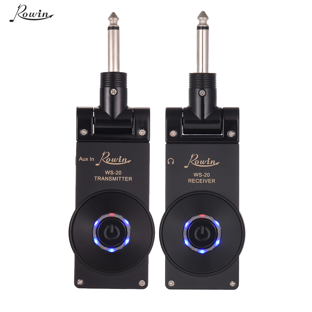 Rowin WS-20 2.4G Wireless Guitar System Rechargeable Lithium Battery Transmitter Receiver 30 Meters Transmission Range 4 colors(China)
