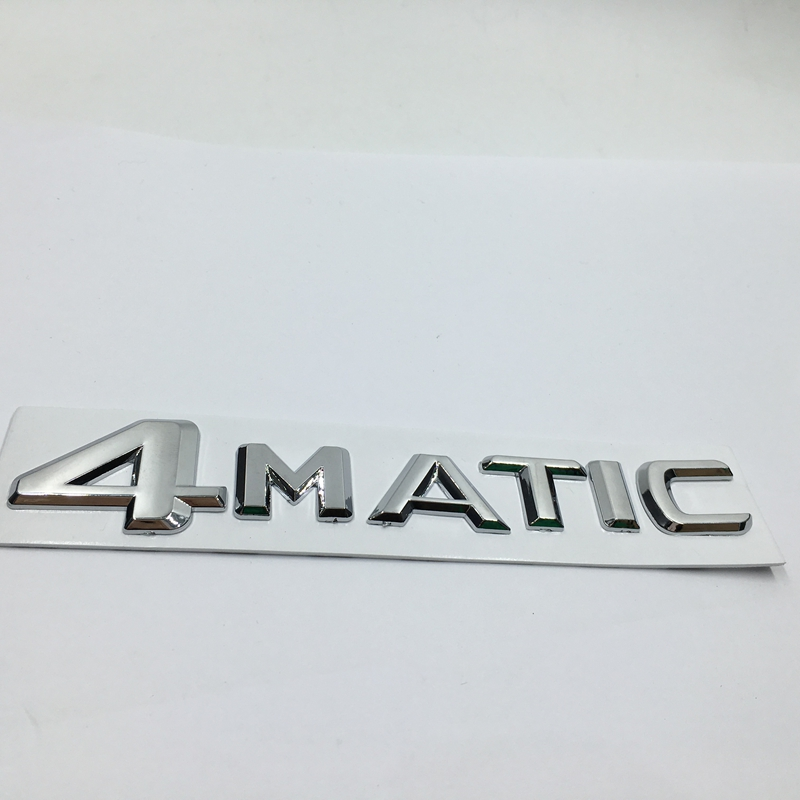 For mercedes 4matic trunk or side side emblem chrome for Mercedes benz logo stickers