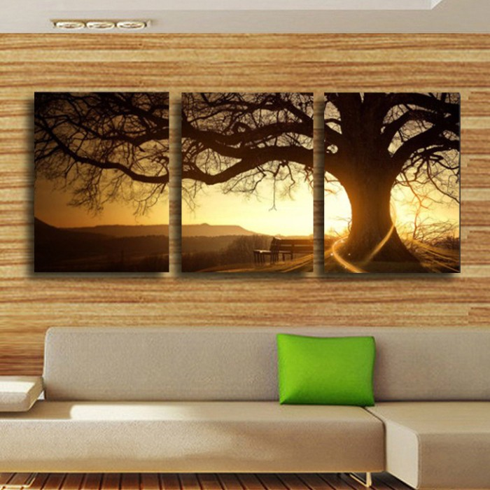 3 Piece Framed Wall Art Tree Promotion-Shop for Promotional 3 - framed wall art for living room