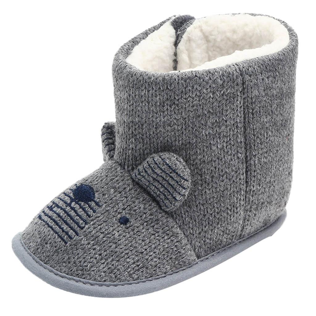 Fashon Nette Maus Warme Stiefel Frauen Familie Weihnachten Baumwolle Anti-slip Warmwinter Schuhe Infant Baby Mädchen Jungen Boot Drop Verschiffen Einfach Und Leicht Zu Handhaben Babyschuhe