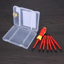 Kit de Herramientas de Reparación Destornillador eléctrico Aislamiento Eléctrico Manualmente Destornillador Conjunto Rojo 7 unids Multi Tipo Tornillo De Cabeza