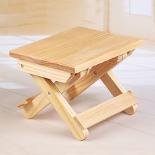 Simple Fashion Foldable Low Round Wooden Stool change shoe stool solid wood Ottoman Living Room(China)
