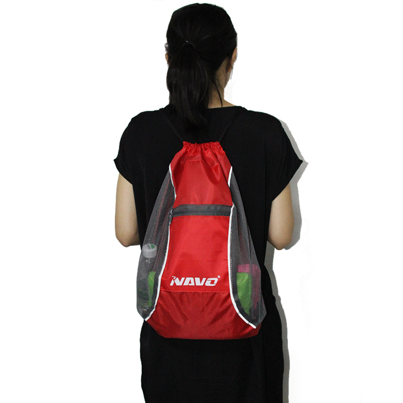 NAVO Reflective Drawstring Bags Polyester String Backpack Casual Shoes Travel Beach Bags Foldable Cinch Bag backpacks sac a dos цена