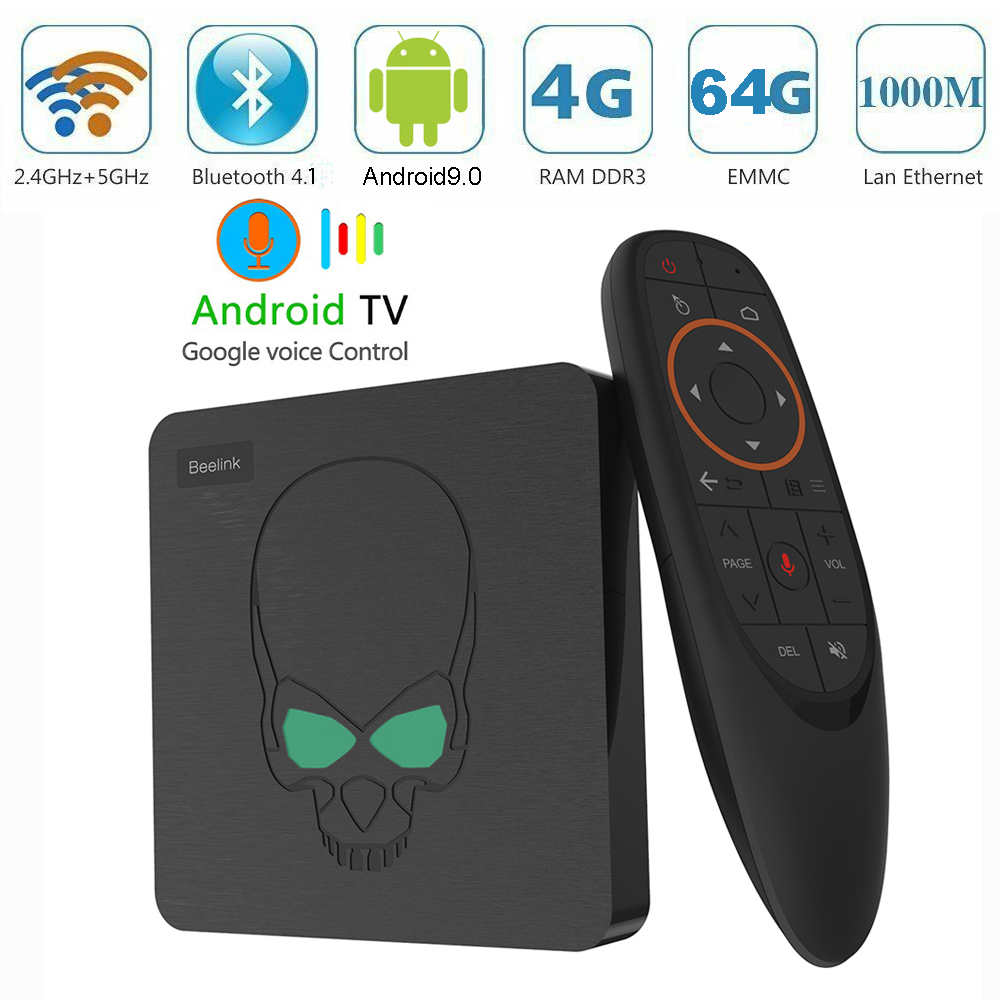 Voice control GT King smart TV BOX android 9 0 Amlogic S922X 4G DDR4 64G EMMC
