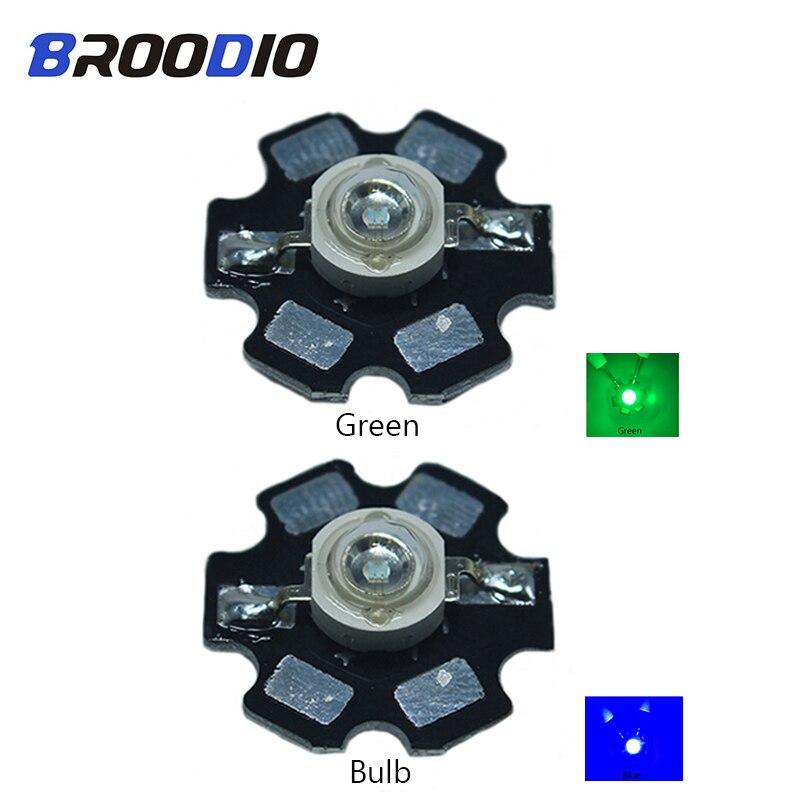 Broodio 10pcs 3W High Power LED Beads Full Spectrum White Warm white Green Blue Led Red Light Bead Aug21