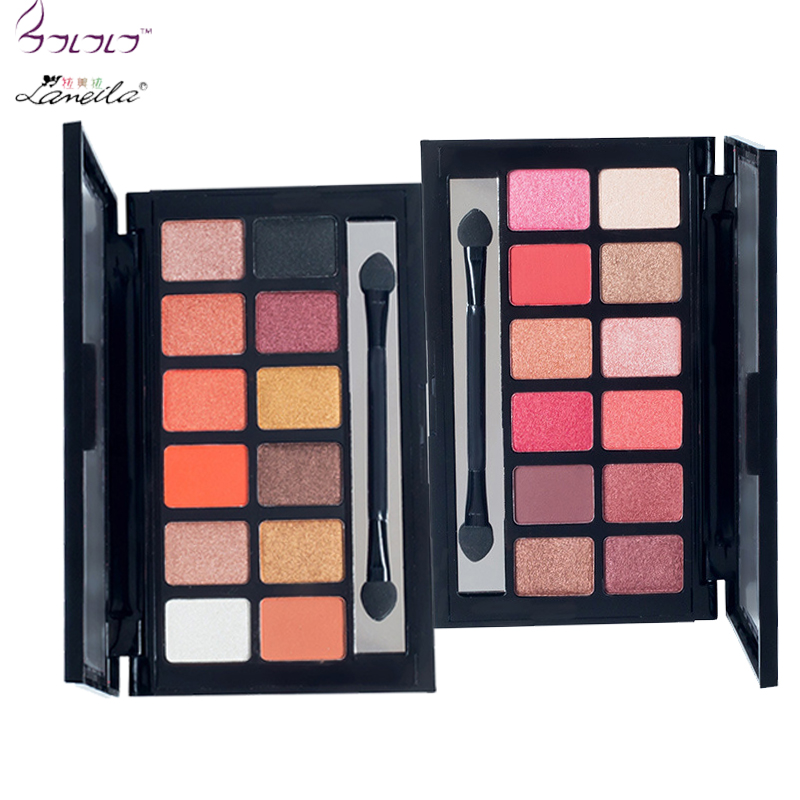LAMEILA 12colors Eyeshadow Palette Silky Powder Professionals