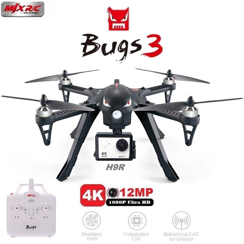 MJX Bugs 3 B3 RC Quadcopter Brushless Motor 2,4G 6-achsen-gyrosensor Drohne Mit H9R 4 Karat Kamera Professionelle Eders hubschrauber