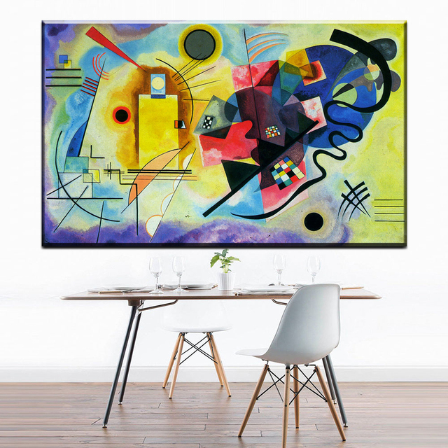 Zz1173 Artwork Wassily Kandinsky Classic Colorful Art Canvas Poster
