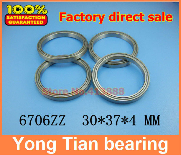 The high quality of ultra-thin stainless steel bearing 6706 S6706 Z S61706ZZ SS6706ZZ S6706ZZ 30*37*4 mm 440C material kcchstar the eye of god high quality 316 titanium steel necklaces golden blue
