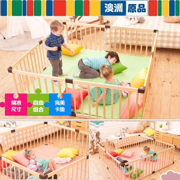 80*61cm 8pcs Solid Wood Baby Toddler Game Fence Child Safety Fence Door  Wooden Child Safety Gate Baby Playpens Solid Wood In Baby Playpens From  Mother ...