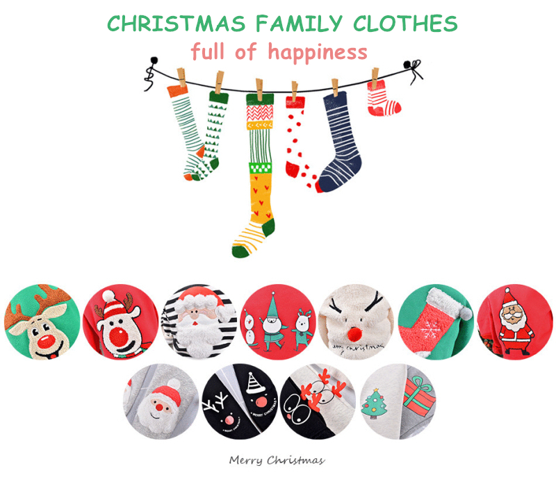 Winter family christmas pajamas family matching clothes family look mother and daughter clothes christmas font b