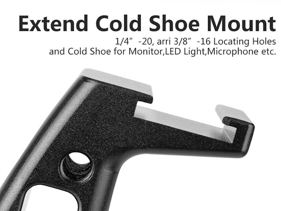 Gimbal Accessories Inverted Handle Sling Grip Neck Ring Mounting Extension Arm for DJI Ronin S Zhiyun Crane 2 /Plus Feiyu AK4000 6