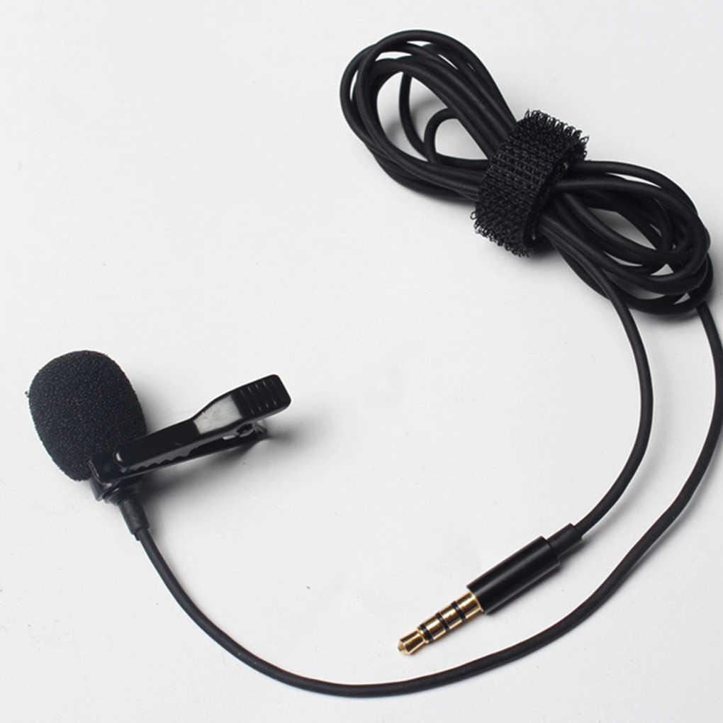 Портативный Клип на лацкальный лавальерный микрофон 3,5 мм Jack Hands-free мини проводной Конденсатор микрофон для iphone samsung смартфон