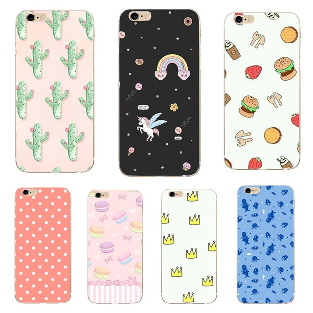 Cute Phone Case For iPhone 8 7 6 6s Plus Fashion Cartoon