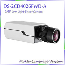 free shipping DS-2CD4026FWD-A multi language version 2MP Low Light Smart Camera,with Auto Back Focus