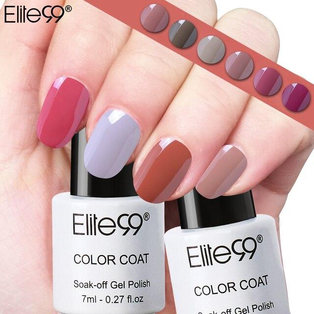 Elite99 gel uv soak off Esmaltes de uñas colores nude 12 unidades ...