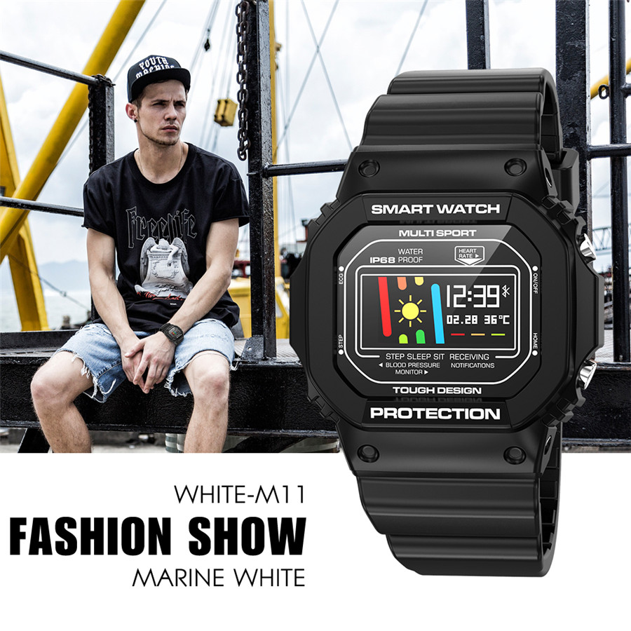 GIAUSA <font><b>X12</b></font> Cheap Smart Watch Fashion Young Man <font><b>Smartwatch</b></font> ECG Heart Rate Monitor Blood Pressure Watch Pedometer IP68 Waterproof image