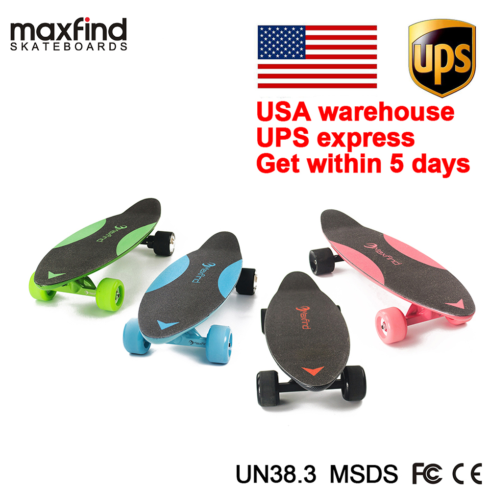 Warehouse Shipping Maxfind 3.7 Kg Most Portable Hub Motor Remote Electric Skateboard With LG Battery Inside Mini Skateboard
