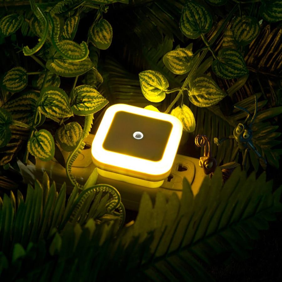 1Pcs Mini Auto Sensor Smart LED Luces nocturnas AC110V-240V Luz de - Luces nocturnas - foto 3
