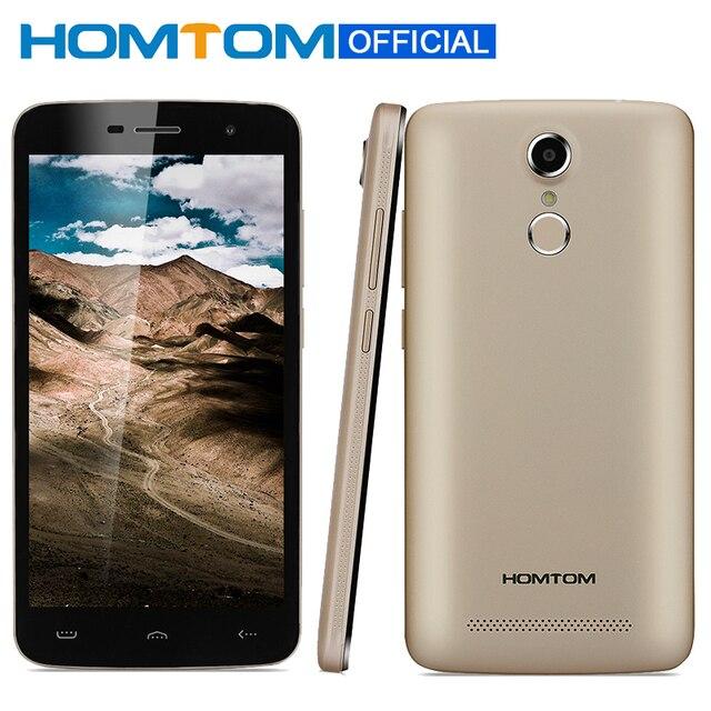 Оригинал homtom ht17 отпечатков пальцев mtk6737 смартфон quad core 1 ГБ оперативной памяти 8 ГБ ROM 5.5 Дюймов 1280x720 3000 мАч FDD LTE 4 Г Мобильный телефоны