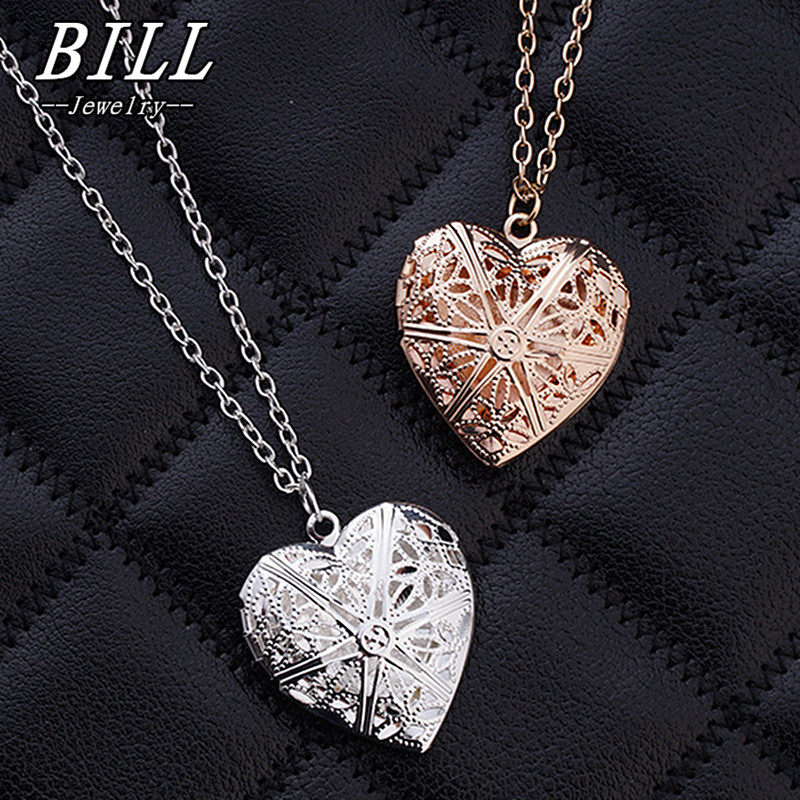 d868460810 US $0.52 25% OFF|N830 Hollow Heart Pendant Necklaces Fashion Jewelry LOVE  Collares Geometric Charm Necklace Bijoux NEW Arrival 2018-in Pendant ...