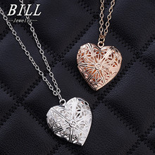 Photopic Hollow Heart Pendant Necklaces