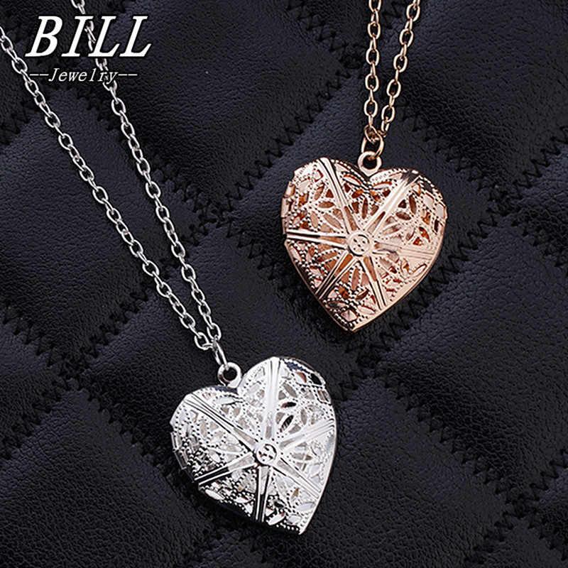 N830 corazón hueco colgante Collares joyería de moda amor collar geométrico encanto Bijoux recién llegado 2018