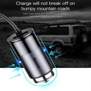 Image 5 - Chargeur de voiture USB Baseus 4 5V 5A charge rapide pour iPhone iPad Samsung Xiaomi tablette adaptateur GPS chargeur chargeur de téléphone de voiture