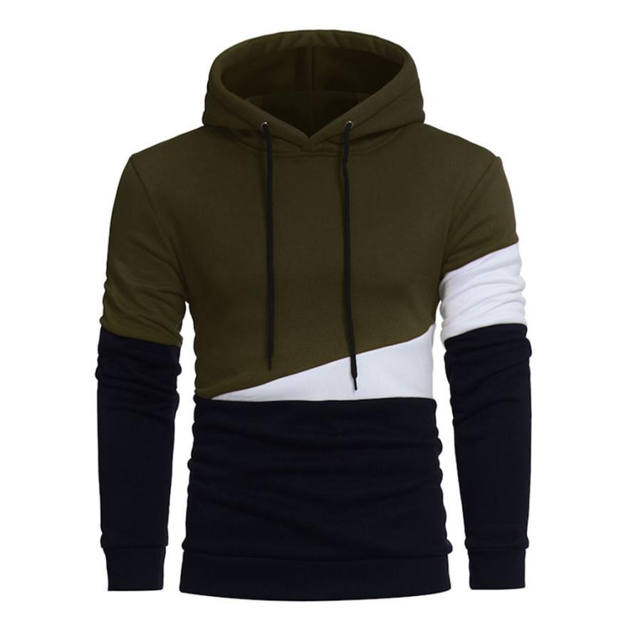 Muqgew мужские зимние хлопковые толстовки с капюшоном пуловер Кофты Лоскутная Блузка с длинным рукавом сукно пальто survetement Homme # BB