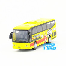 New Diecast Metal Multifunctional toy bus With light and sound function Pull back Educational For children