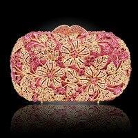 세련된 크리스탈 핸드백 모조 다이아몬드 버클 플랩 여성 클러치