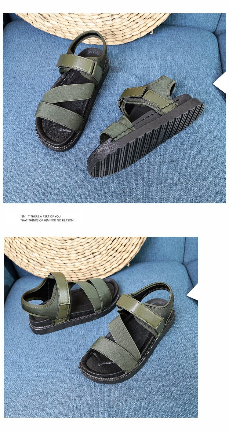 Summer Sandalias Mujer 2019 Shoes Woman Classics Gladiator Hook Loop Sandals Women Shoes Casual Flat Platform Block Heel Shoes 24