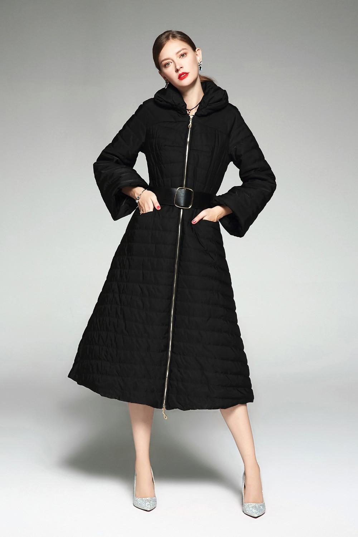 Stand De Couleur Chaud 2018 Col Plus Solides Femmes C3061 La Taille Épais Automne Coton Longues Mince Hiver Manteau Manches Veste Petite WqvvfPa0g