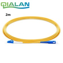 Fiber Optic Cable LC UPC to SC G657A Optical Patchcord Simplex 2.0mm PVC Ftth Single Mode connector