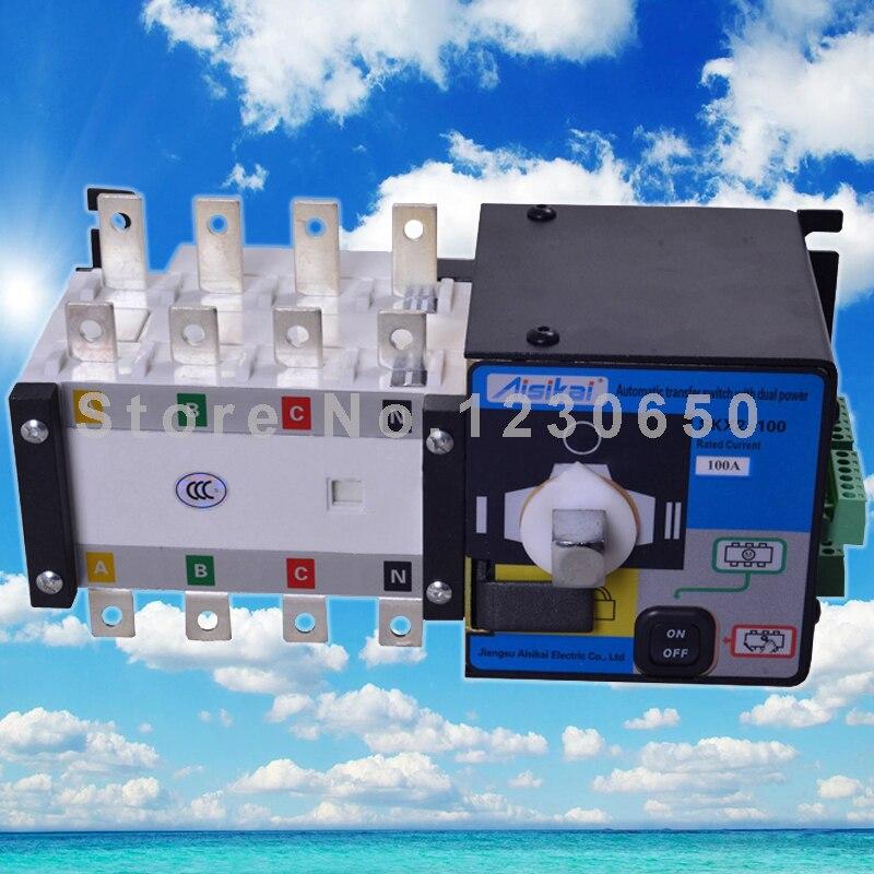 Automatic Transfer Switch 4P(ATS 100A) for generator выключатель нагрузки мини рубильник tdm вн 32 4p 100a sq0211 0039