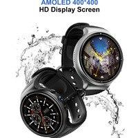 Часы для мужчин 2019 Спорт Смарт Браслет Android 7,0 4G LTE 1 г + г 16 памяти SIM Wi Fi gps сердечного ритма 2MP камера 2,5 HD закаленное стекло
