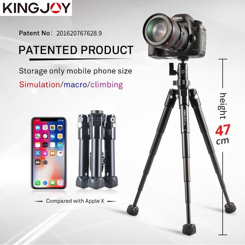 KINGJO officiel SC051 Mini caméra Table trépied pour téléphone Gorillapod Mobile Tripe Para Movil aluminium Tripode Stand Selfie bâton