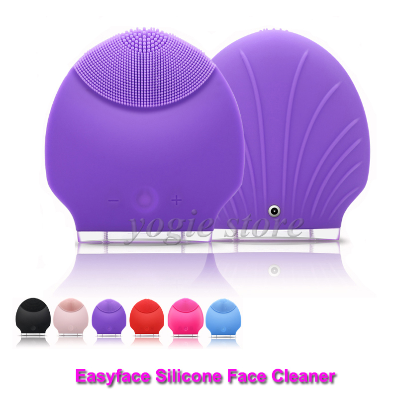 Electric Silicone Facial Brush Cleaner Sonic Face Cleanser Ultrasonic Skin Care Tool Facial Cleaning Massage Washing Machine facial skin care tool rechargeable sonic skin scrubber ultrasonic face cleaner peeling exfoliating facial beauty instrument
