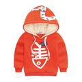 Winter baby boy hoodies sweatshirt fleece inside cartoon hoodies pullover sweatshirt boys sports top