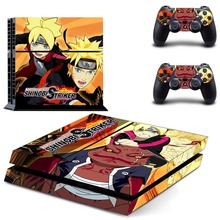 Naruto to Boruto Shinobi Striker PS4 Vinyl Skin Sticker Cover for Playstation 4 System Console and Two Controllers