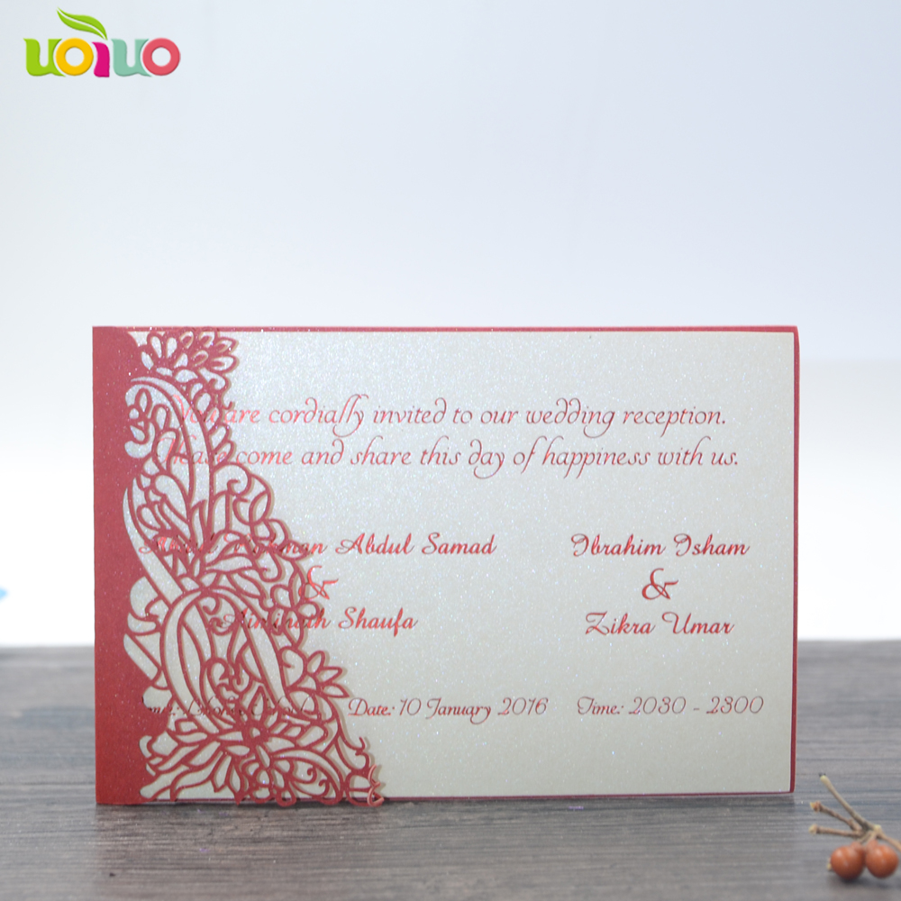 Newest 50pcs matching wedding invitation card laser cut design ...