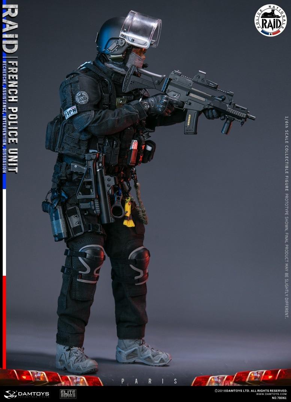 "DAMTOYS 78061 1//6 Scale French Police Unit Raid in Paris 12/"" Figure Kneepad Belt"