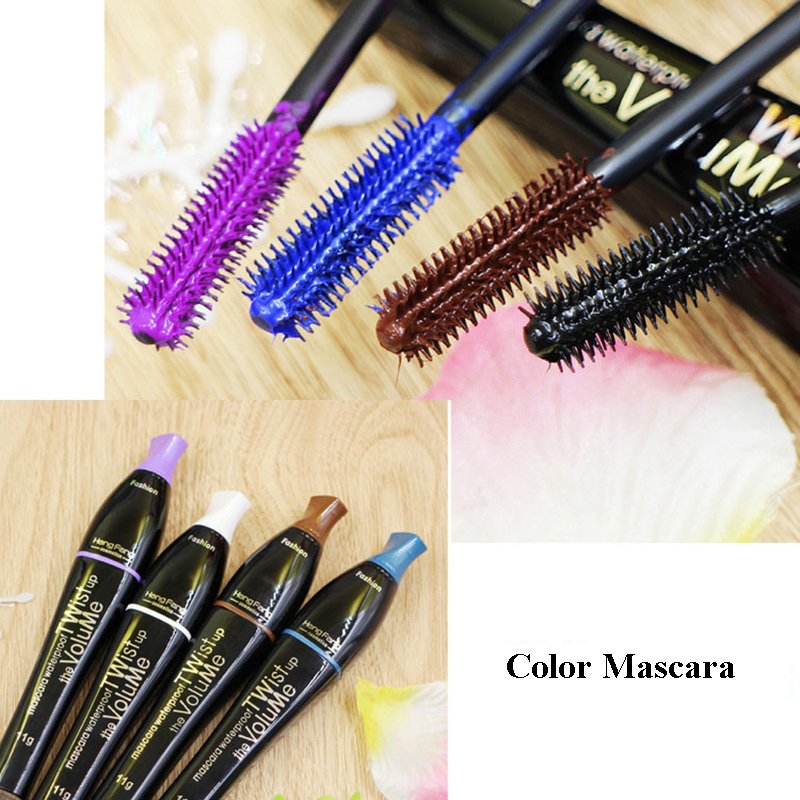 1Pcs Mascara Curling Eyelash Extension Cosmetic Makeup Long Fiber Lashes 4 colors Black Eye Lashes Make Up Liner in Mascara from Beauty Health