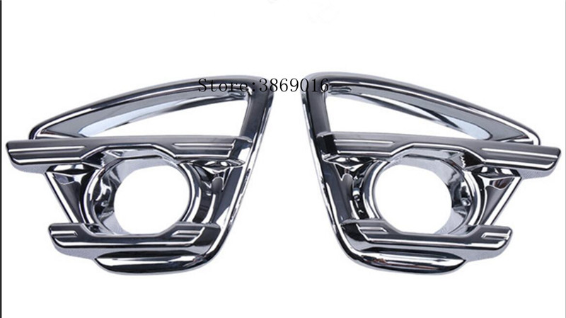 ABS Chrome Styling Front Foglight Cover Car Accessories Front fog light box Car Stickers 2pcs For <font><b>Mazda</b></font> <font><b>CX</b></font>-<font><b>5</b></font> CX5 <font><b>CX</b></font> <font><b>5</b></font> <font><b>2015</b></font> <font><b>2016</b></font> image